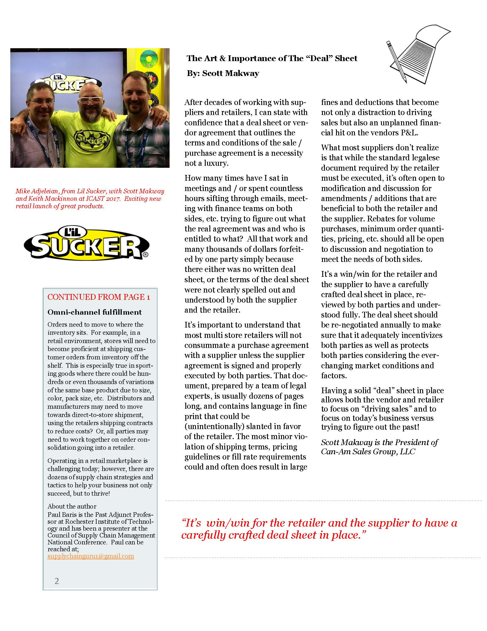 CanAm Newsletter Volume 1, Page 2