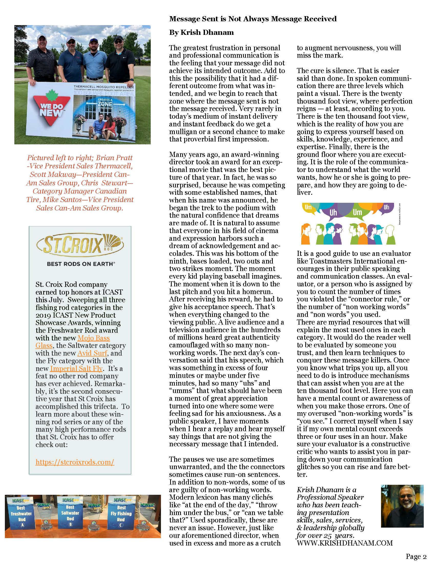 Can-Am Sales Group Newsletter Vol2-3-page 2