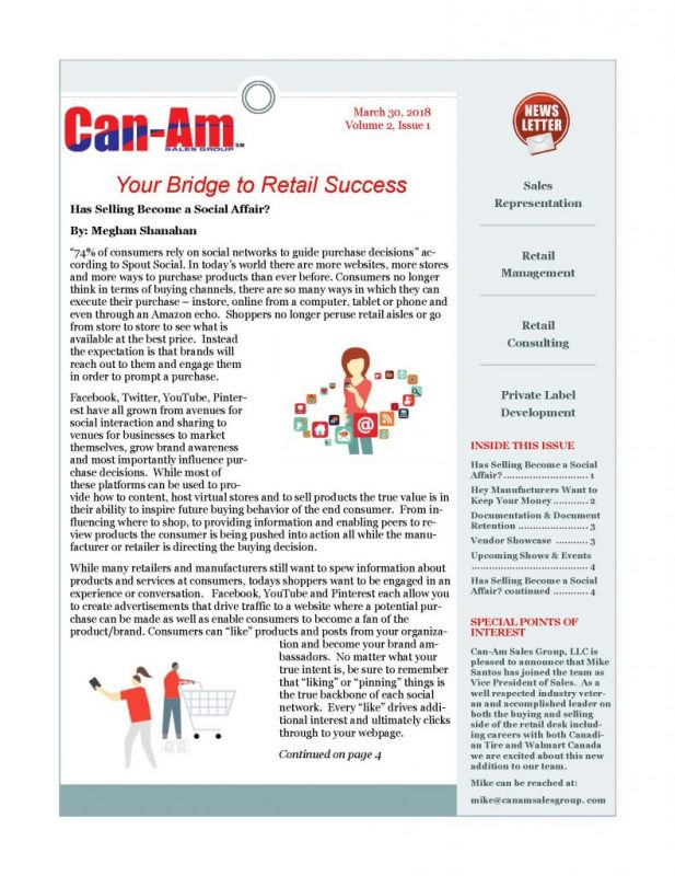 CanAm Newsletter V2, Page 1
