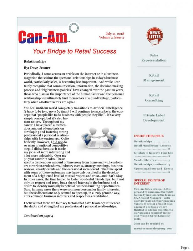 CanAm Newsletter V3, Page 1