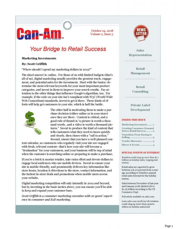 CanAm Newsletter V4, Page 1