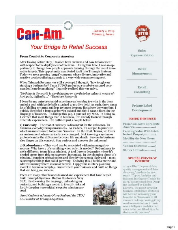 Can-Am Sales Group Newsletter- page 1 |1-4-19