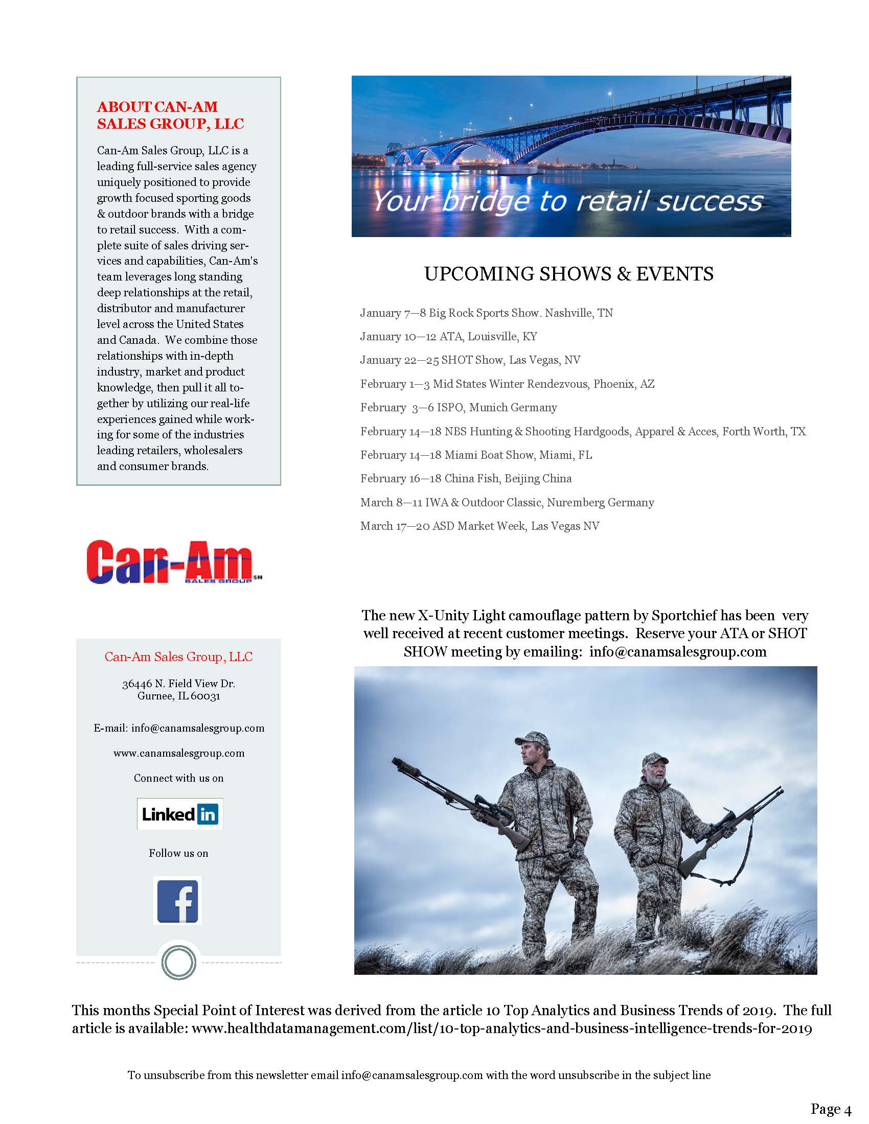 Can-Am Sales Group Newsletter Volume 3-page 4| 1-4-19
